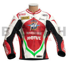 MV Agusta Reparto Corse Motorbike Leather Racing Jacket All Size Available
