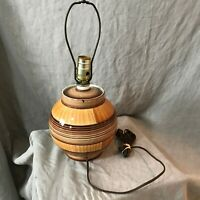 Vintage Brown Ceramic Pottery Table Lamp