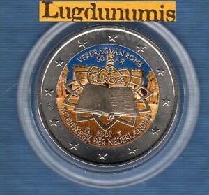 2 euro Commémo Couleur Color Pays Bas 2007 Traité de Rome Nederland