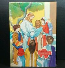 Springbok Puzzle Jesus Blesses Children Hallmark Vintage Christian Xmas 100 Pc