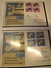 Sammlung Schweiz 24 Briefe / Belege Schmetterlinge 1950/57, Pro Juventute (1504)