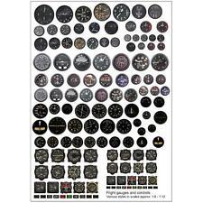 Becc Flight Gauges and Controls Multi Pack Vinyl Decals