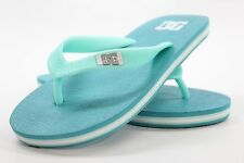 New DC SHOES Girls Spray Flip Flop Sandals Size 1Y Ocean Blue BW1