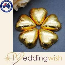 100 GOLD Chocolate Foil Hearts- Wedding Bomboniere Quality Aus Chocolate