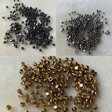 2.5mm rounded cube metal spacer beads silver/gunmetal/gold jewellery making