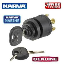 Narva 3 Position Ignition Switch with Push for Choke & 2 Keys 12v Marine 64008