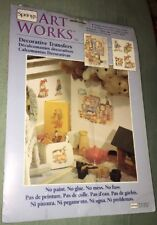 """New Springs Artworks Decorative Transfers Toy Time (2) 9"""" x 12"""" Sheets"""