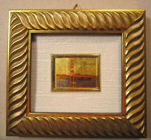 San Francisco Bridge 23 Kt Gold Leaf Art Reproduction AIA Home Decor Framed