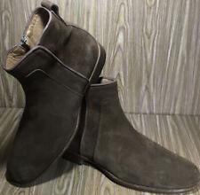 Paul Fredrick Men's Suede Leather Zipper Boots Light Brown 9.5M