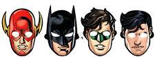 8 X Ligue de Justice D'Amérique Masques Fête pour Enfants Habillage/Faveurs