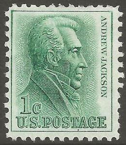 U.S. #1209 1963 1¢ Andrew Jackson MINT-Light-Hinge Fine
