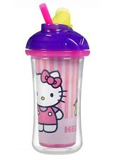 Munchkin Hello Kitty Click Lock INSULATED STRAW CUP (Pink Stripe) ~NEW~