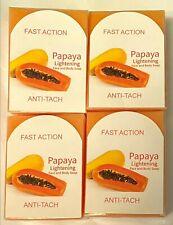 Papaya Lightening Face and Body Soap 4 set, Face Action & Anti-Tach