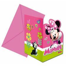 Minnie Einladungskarten, 6er Pck