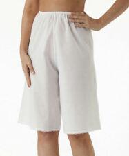 Velrose Ladies Womens Cotton Batiste Culotte Slip, Misses Sizes, White, 2461