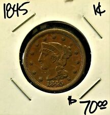 1845 1C >Coins: Us > Large Cents > Braided Hair