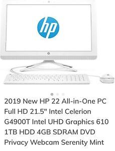 HP desktop computer white