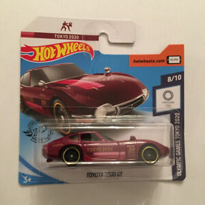 Hot Wheels Rare 2020 Olympic Games Tokyo Toyota 2000 GT Mint In Short Card UK