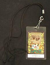 Weezer Memories Tour Aragon Ballroom Chicago 2011 Vip Pass Laminate Lanyard