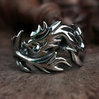 Men's Dragon 316L Stainless Steel Ring Chinese Zodiac Myth Totem US Size 7-13
