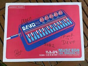 DEVO - Autographed Los Angeles 11.3.09 Poster - RARE