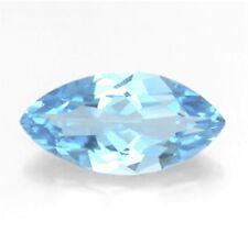 Natural Topacio Azul Cielo 12mm X 6mm Corte Marquesa/os Joya Piedras Preciosas