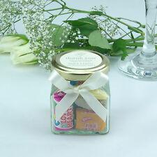 20 Personalised Wedding Favour Mini Glass Retro Sweet Jars