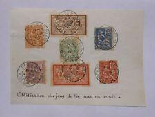PRECURSEURS DES PREMIERS JOURS OBLT JOUR DE LA MISE EN VENTE 4.12. 1900 PARIS