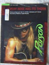"""POISON """"EVERY ROSE HAS ITS THORN""""  GUITAR, TAB & VOCAL SHEET MUSIC 1988"""