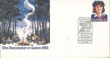 1985 75 Years Guiding Fdc 13 April Special Postmark Melbourne Pictor Marks 1213