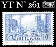 """FRANCE TIMBRE YTN° 261b """"PORT DE LA ROCHELLE"""" 10F OUTREMER PALE"""