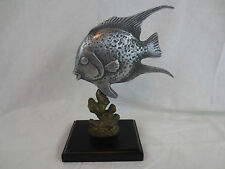 "ANGEL FISH FIGURINE SPI GALLERY 8.75"", Cast Pewter, w inserted metal label"