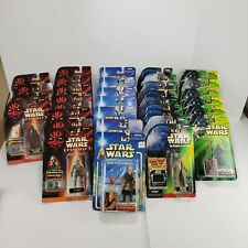 Star Wars Vintage 90's/Early 2000's Collection Huge Lot 34 Figures All Sealed!!!