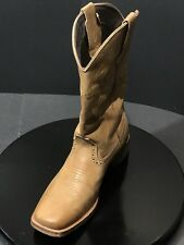 Roper Boot Tan 12 Inch Lindsey Leather Women Square Toe 09-021-0910-0959 Size 9M