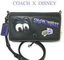 COACH DISNEY Snow White Handbag Spooky Eyes Gems Patch Crossbody Purse NWT