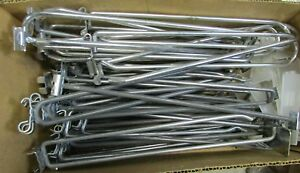 """Lot of 13 Lbs Assorted Large Gridwall Hooks, Approx 1"""" Grid Bar Spacing Retail"""