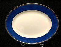 """RARE Vintage Wedgwood Blue Swinburne Bone China Platter 17"""""""