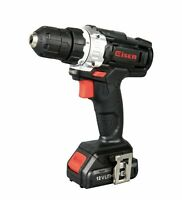 "12V Cordless 3/8"" Cordless Drill 700 RPM Keyless Clutch 1.5Ah with LED Worklight"