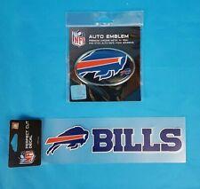 New NFL Buffalo Bills Auto Emblem & Decal Set ~  NEW