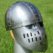 18GA SCA LARP Medieval Steel Viking Nasal Helmet Norman Helmet Armor Helmet TB29