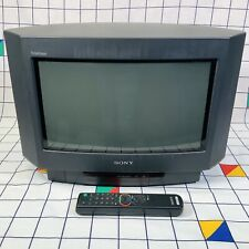 "Rare Sony Trinitron KV-16WT1U Portable 16"" Widescreen CRT TV Retro Gaming - 50hz"