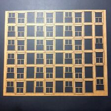 Sash Windows Sheet. Laser Cut Scratch Aid Layout Kit OO Gauge 4mm Model Railway