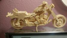 Vintage Wood Hand Crafted Toy Motorcycle Office Display Thin Wood Very Unique