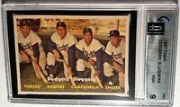1957 Topps #400 Dodgers' Sluggers: Campanella Snider Hodges Furrillo GAI 9 MINT