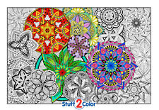 Mandala Madness - Giant Coloring Poster by Stuff2Color (32x22½ Inches)