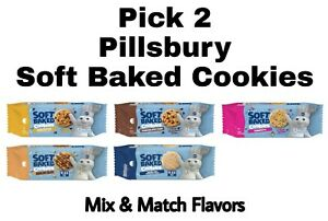 Pick 2 Pillsbury Soft Baked Cookies Butterscotch, Chocolate Chip, Confetti & +