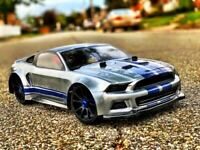 0175- Carrozzeria BODY Mustang 1/8 RC GT CAR+ Alettone/spoiler boot