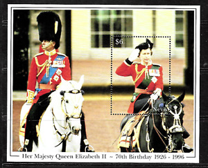 Nevis .. Queen Elizabeth 11 70th Birthday Mini-Sheet..Mint (MNH).