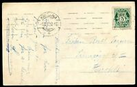 NORWAY Circulated Card, 1917 w/Commercial Perfin, VF