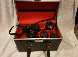New Complete Vintage Mamiya Camera With Luxury storage travel case